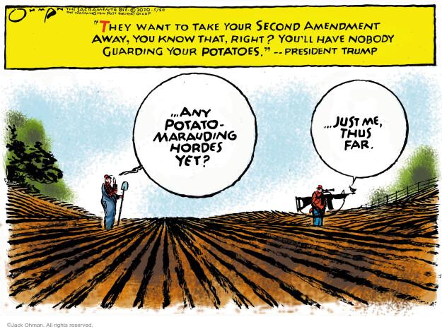 Cartoonist Jack Ohman  Jack Ohman's Editorial Cartoons 2020-05-20 gun