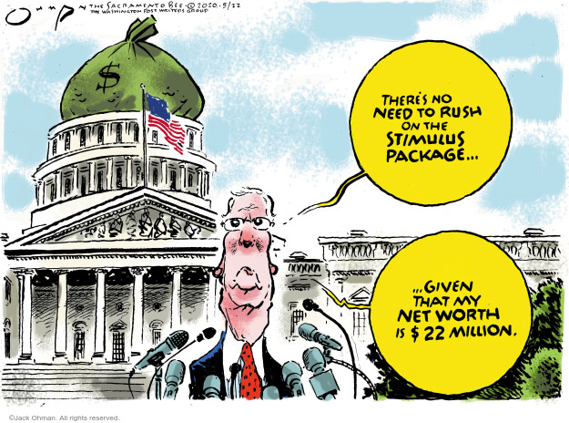 Jack Ohman  Jack Ohman's Editorial Cartoons 2020-05-22 Mitch McConnell
