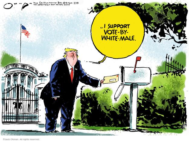 Cartoonist Jack Ohman  Jack Ohman's Editorial Cartoons 2020-05-28 2020 election