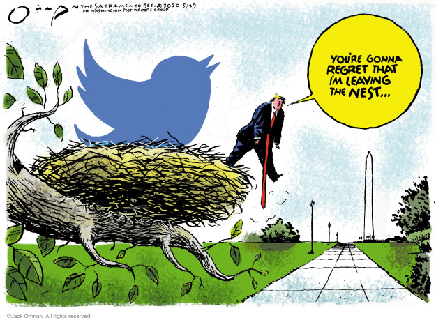 Jack Ohman  Jack Ohman's Editorial Cartoons 2020-05-29 presidential administration