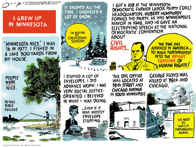 Jack Ohman  Jack Ohman's Editorial Cartoons 2020-05-31 civil rights