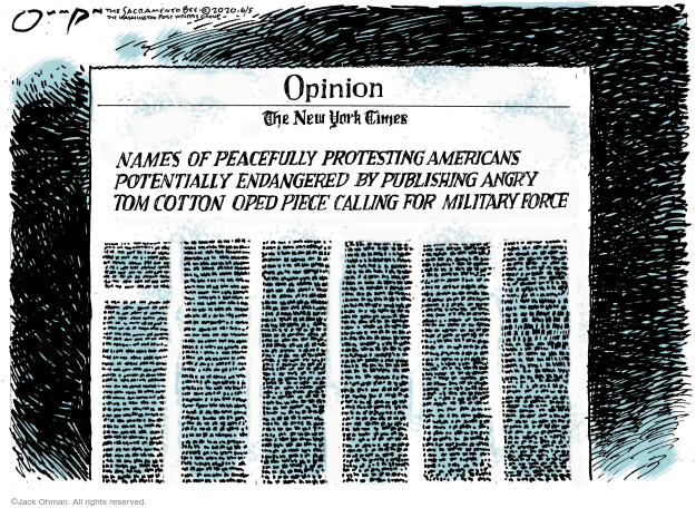 Jack Ohman  Jack Ohman's Editorial Cartoons 2020-06-05 civil rights