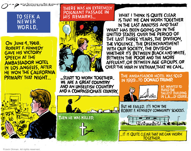 Cartoonist Jack Ohman  Jack Ohman's Editorial Cartoons 2020-06-07 Black Lives Matter