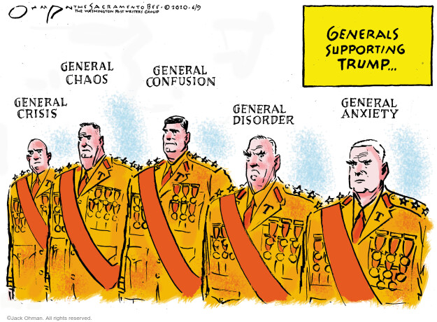 Jack Ohman  Jack Ohman's Editorial Cartoons 2020-06-09 Donald Trump