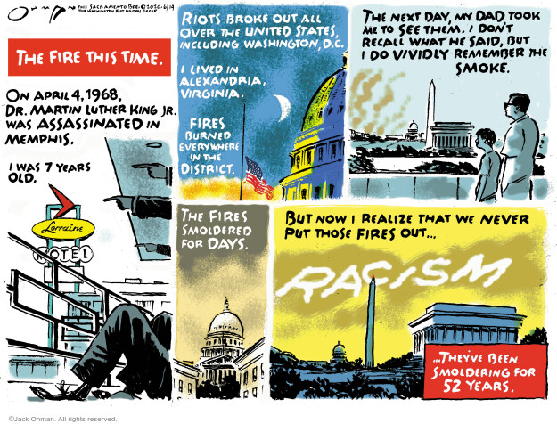 Cartoonist Jack Ohman  Jack Ohman's Editorial Cartoons 2020-06-14 Black Lives Matter