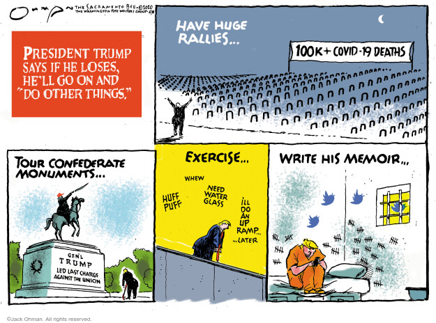 Jack Ohman  Jack Ohman's Editorial Cartoons 2020-06-17 2020 election Donald Trump