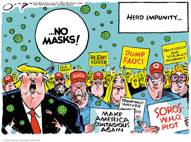 Jack Ohman  Jack Ohman's Editorial Cartoons 2020-06-18 2020 election Donald Trump