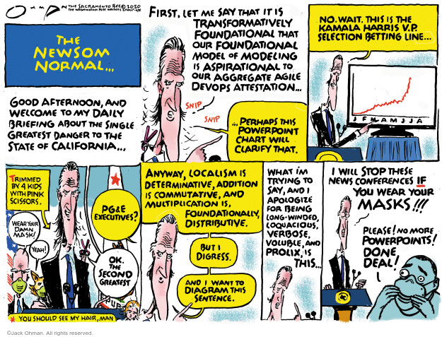 Jack Ohman  Jack Ohman's Editorial Cartoons 2020-06-28 California