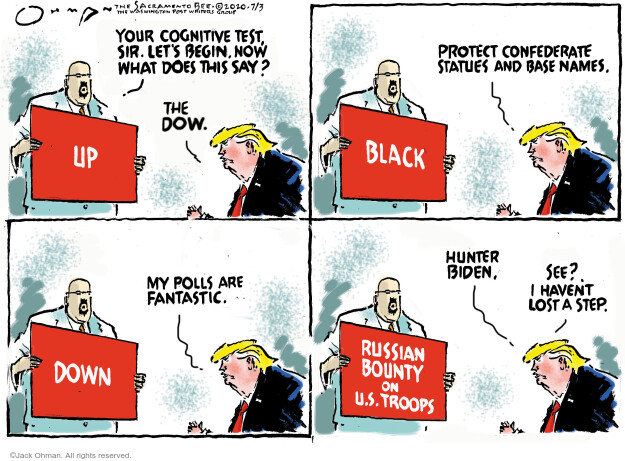 Jack Ohman  Jack Ohman's Editorial Cartoons 2020-07-03 Trump administration