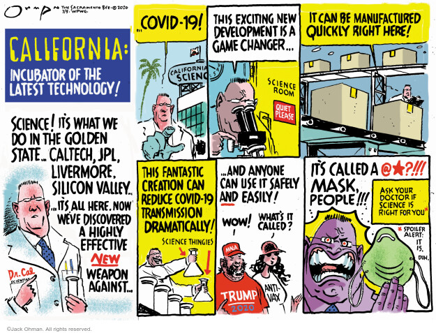 Jack Ohman  Jack Ohman's Editorial Cartoons 2020-07-05 California