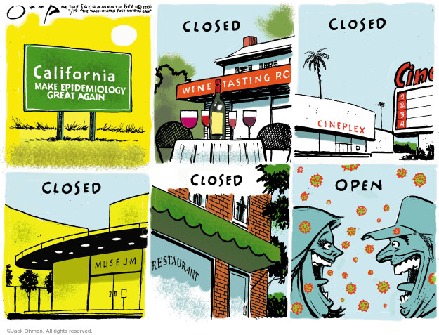 Jack Ohman  Jack Ohman's Editorial Cartoons 2020-07-19 California