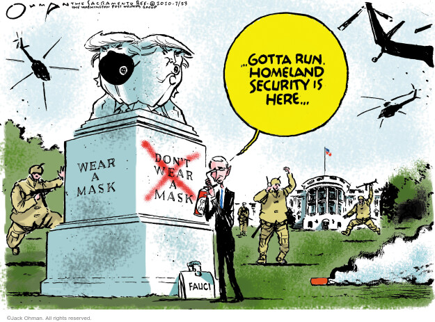 Jack Ohman  Jack Ohman's Editorial Cartoons 2020-07-23 2020 election Donald Trump