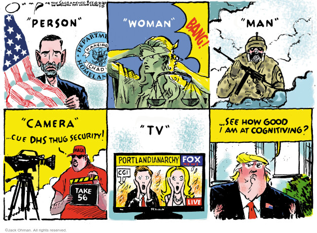 Jack Ohman  Jack Ohman's Editorial Cartoons 2020-07-24 2020 election Donald Trump