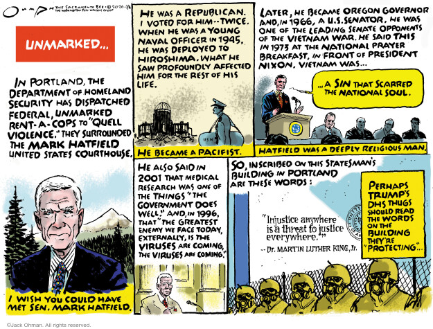 Jack Ohman  Jack Ohman's Editorial Cartoons 2020-07-26 Vietnam War