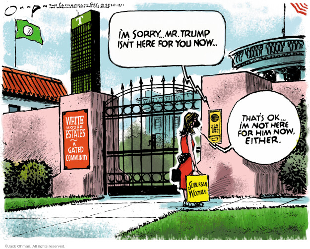 Jack Ohman  Jack Ohman's Editorial Cartoons 2020-08-01 2020 election Donald Trump