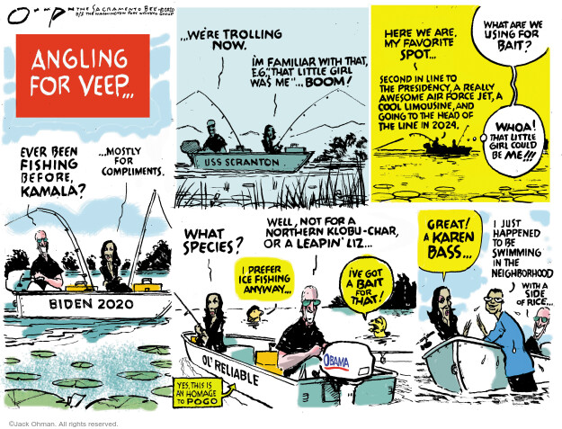 Jack Ohman  Jack Ohman's Editorial Cartoons 2020-08-02 editorial
