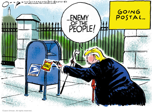 Jack Ohman  Jack Ohman's Editorial Cartoons 2020-08-06 2020 election Donald Trump