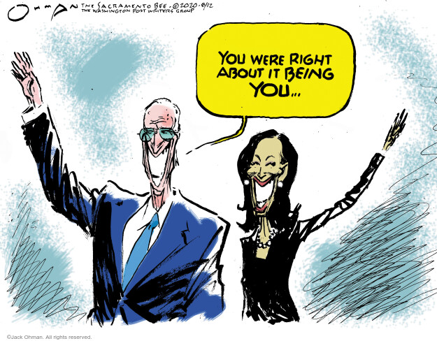 Jack Ohman  Jack Ohman's Editorial Cartoons 2020-08-13 presidential election
