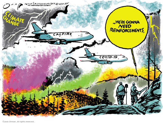 Jack Ohman  Jack Ohman's Editorial Cartoons 2020-08-25 global pandemic