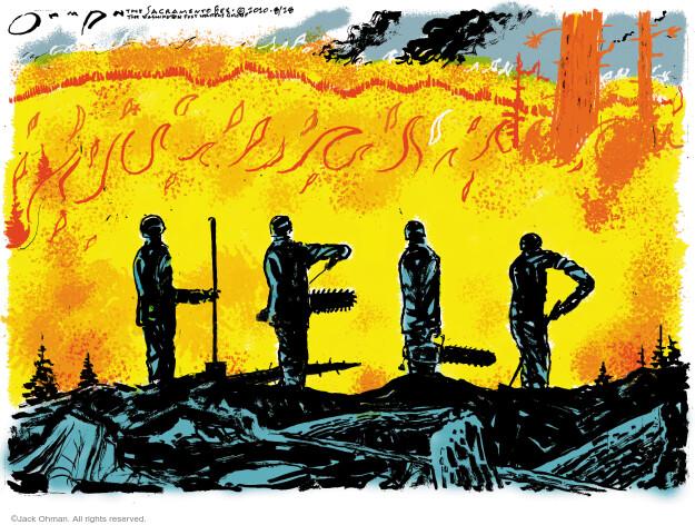 Jack Ohman  Jack Ohman's Editorial Cartoons 2020-08-28 emergency