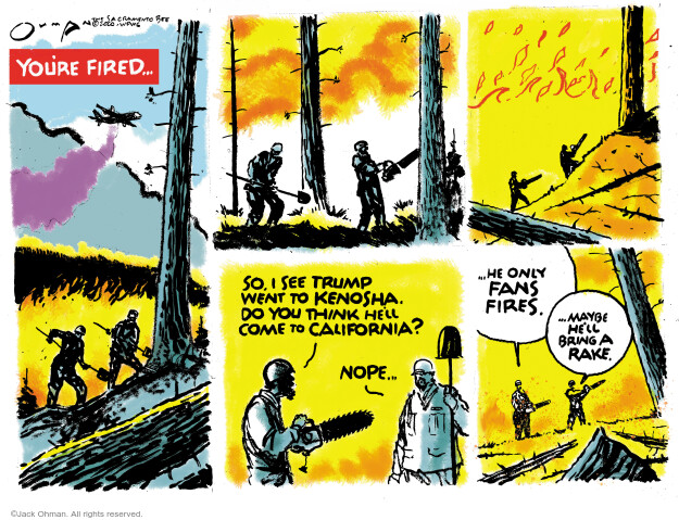 Jack Ohman  Jack Ohman's Editorial Cartoons 2020-09-06 Donald Trump