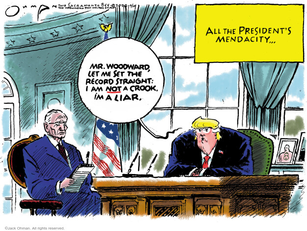 Jack Ohman  Jack Ohman's Editorial Cartoons 2020-09-10 Presidency