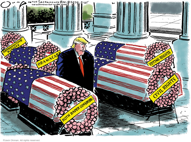Jack Ohman  Jack Ohman's Editorial Cartoons 2020-09-25 voting rights