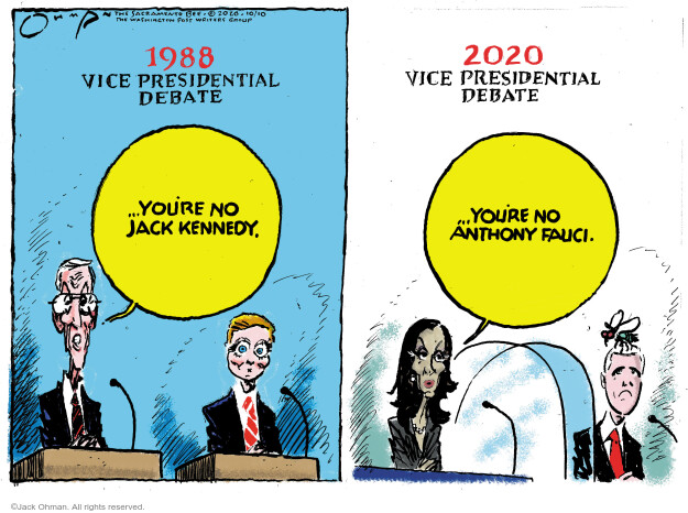 Jack Ohman  Jack Ohman's Editorial Cartoons 2020-10-10 Anthony Fauci