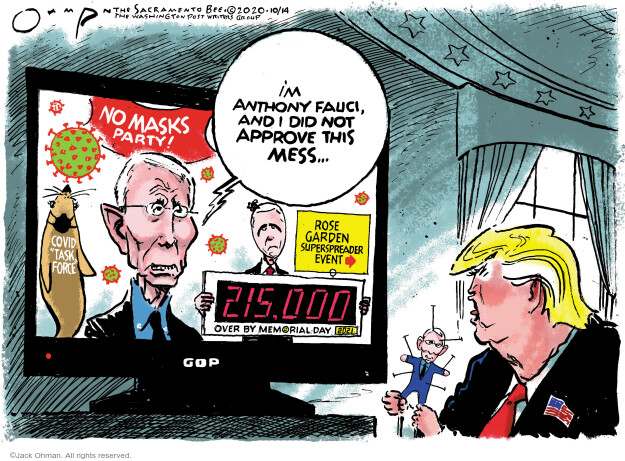 Jack Ohman  Jack Ohman's Editorial Cartoons 2020-10-14 Donald