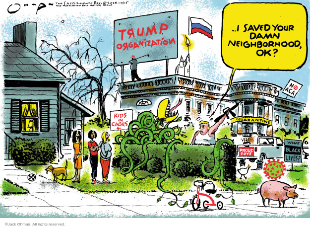 Jack Ohman  Jack Ohman's Editorial Cartoons 2020-10-15 Donald