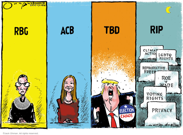Jack Ohman  Jack Ohman's Editorial Cartoons 2020-10-16 Donald