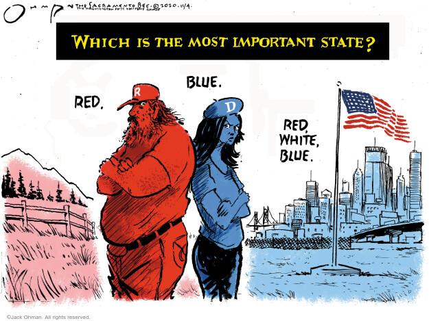 Jack Ohman  Jack Ohman's Editorial Cartoons 2020-11-04 America