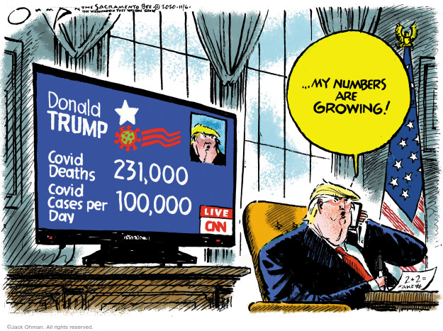 Jack Ohman  Jack Ohman's Editorial Cartoons 2020-11-06 Donald