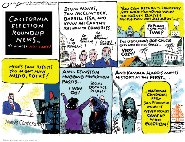 Jack Ohman  Jack Ohman's Editorial Cartoons 2020-11-08 news