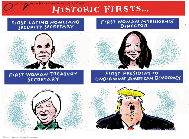 Jack Ohman  Jack Ohman's Editorial Cartoons 2020-11-25 Donald Trump Joe Biden
