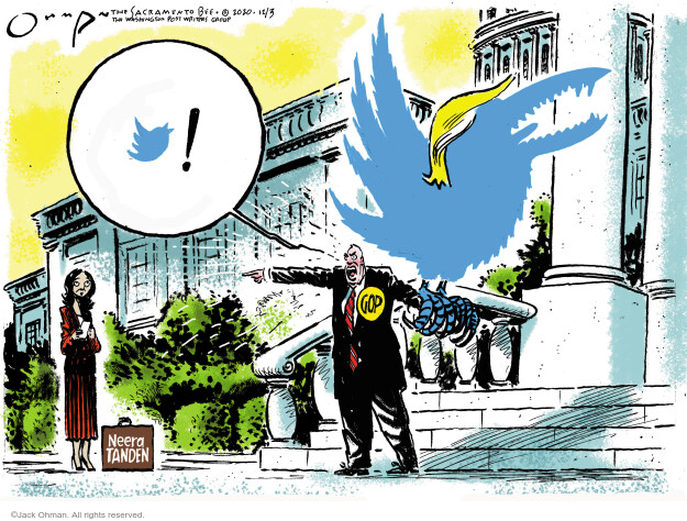 Jack Ohman  Jack Ohman's Editorial Cartoons 2020-12-03 Donald Trump Joe Biden