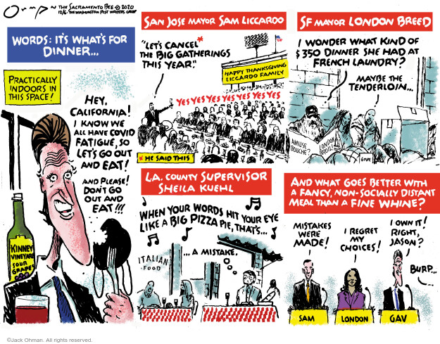 Jack Ohman  Jack Ohman's Editorial Cartoons 2020-12-06 public health