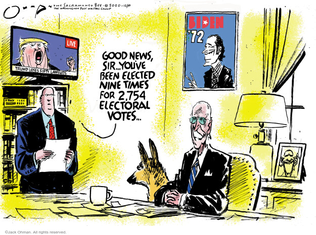 Jack Ohman  Jack Ohman's Editorial Cartoons 2020-12-10 Donald Trump Joe Biden