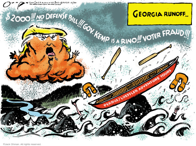 Jack Ohman  Jack Ohman's Editorial Cartoons 2020-12-30 voter fraud