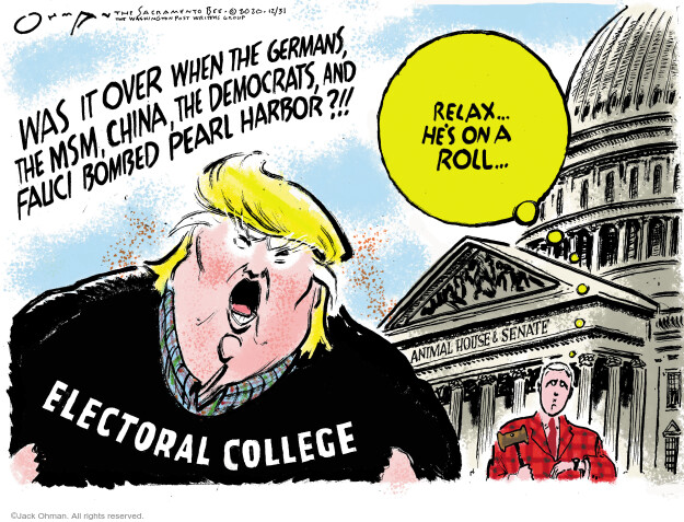 Jack Ohman  Jack Ohman's Editorial Cartoons 2020-12-31 Donald Trump