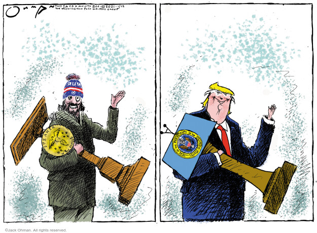 Jack Ohman  Jack Ohman's Editorial Cartoons 2021-01-12 2020 election Donald Trump