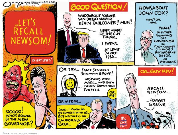 Jack Ohman  Jack Ohman's Editorial Cartoons 2021-02-07 senator