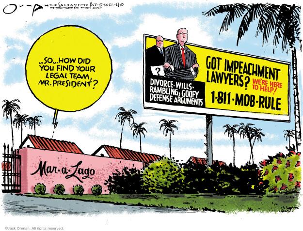 Jack Ohman  Jack Ohman's Editorial Cartoons 2021-02-11 senate