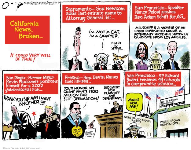 Jack Ohman  Jack Ohman's Editorial Cartoons 2021-02-14 100