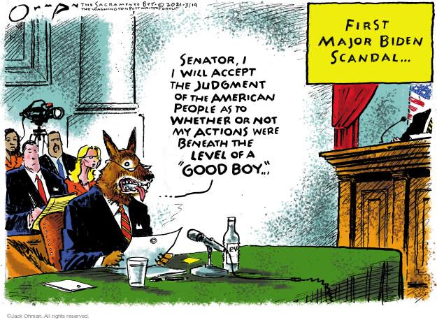Jack Ohman  Jack Ohman's Editorial Cartoons 2021-03-14 senator