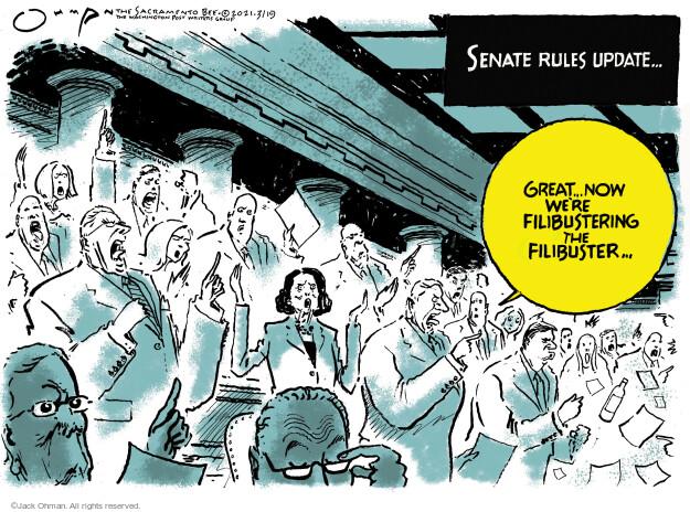 Jack Ohman  Jack Ohman's Editorial Cartoons 2021-03-19 senator