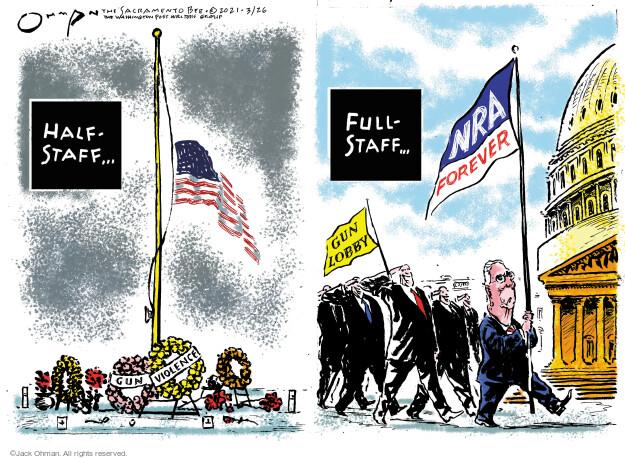 Jack Ohman  Jack Ohman's Editorial Cartoons 2021-03-26 gun rights