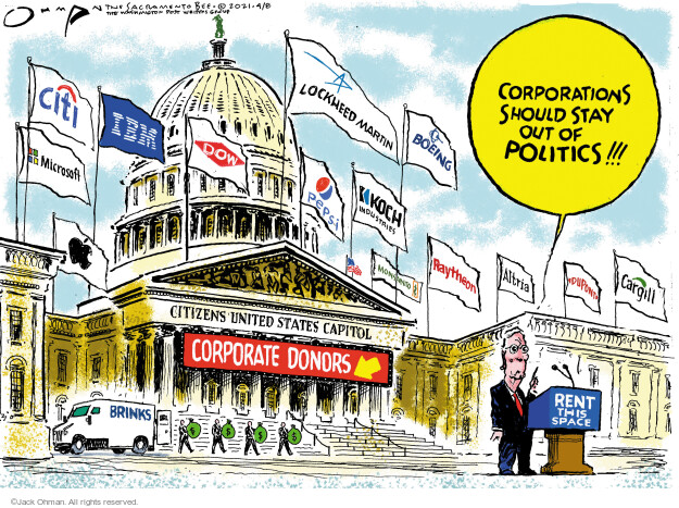 Jack Ohman  Jack Ohman's Editorial Cartoons 2021-04-08 voting rights