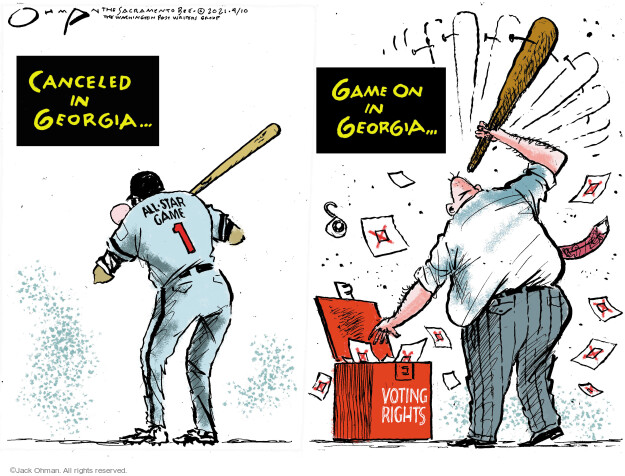 Jack Ohman  Jack Ohman's Editorial Cartoons 2021-04-10 voting rights