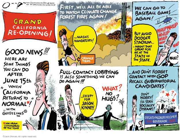 Jack Ohman  Jack Ohman's Editorial Cartoons 2021-04-11 public health